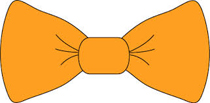 bow tie orange-w