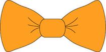 bow tie orange-w