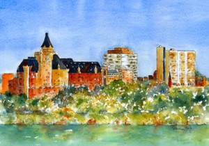 The Prize - Saskatoon Panorama Print